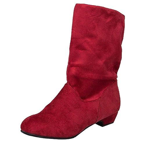 Botines Martin para Mujer Sandalias con TacóN Cuadrado De Dedo Medio con Punta Cuadrada De OHQ con Slip-On De Color Puro: Amazon.es: Zapatos y complementos