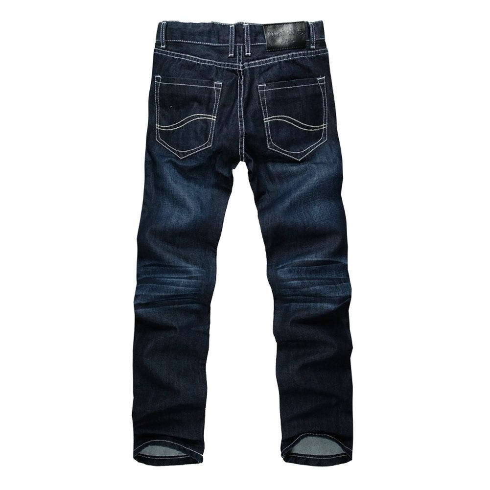 Men Clothing Fashion Dark Color Straight Jeans