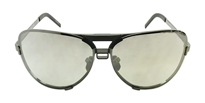 8a3324e35002 Image Unavailable. Image not available for. Color  Porsche Design Men s  Titanium Sunglasses P8678 A Dark Gun ...
