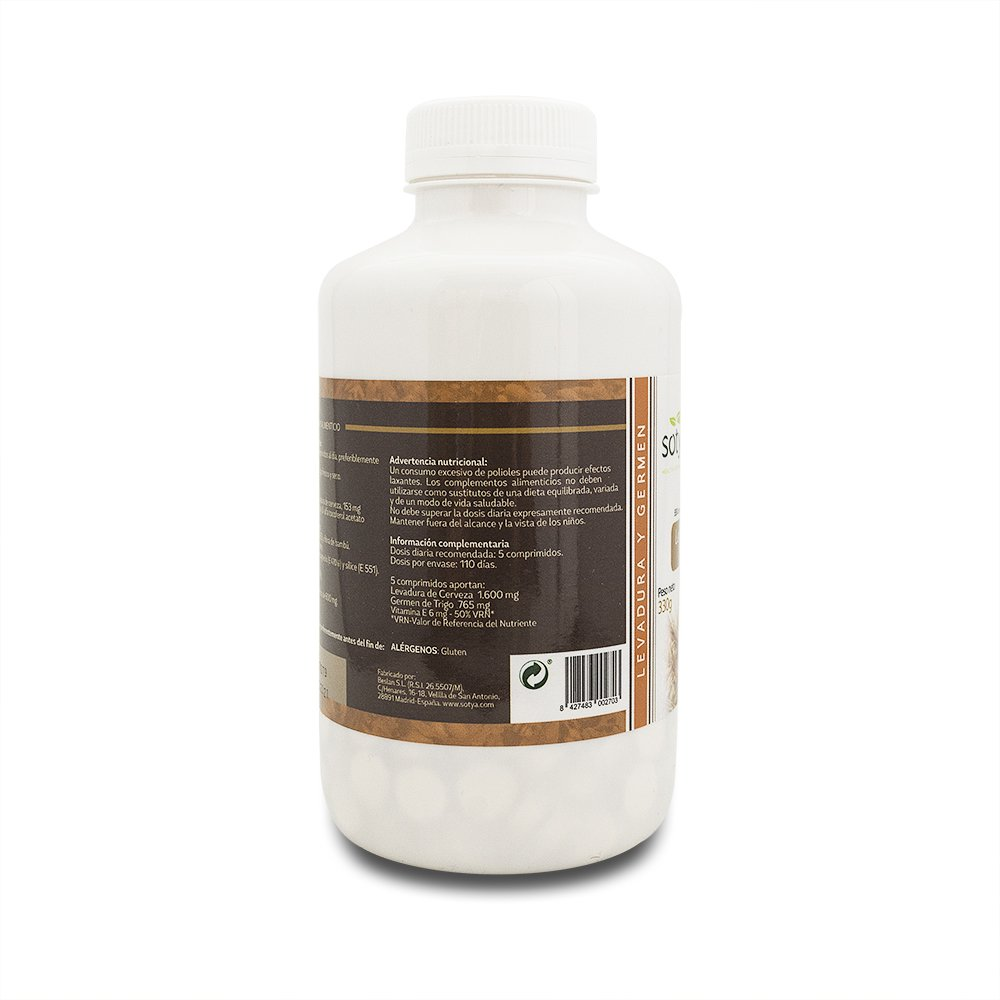 Amazon.com: Sotya Beer Yeast + Wheat Germ 550Comp. by Sotya: Health & Personal Care