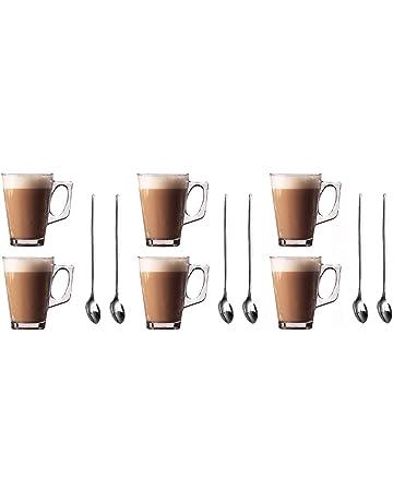7b042c8aeda1e9 Lot de 6 verres pour latte Tasses 250 ml (Arc) + Lot de 6