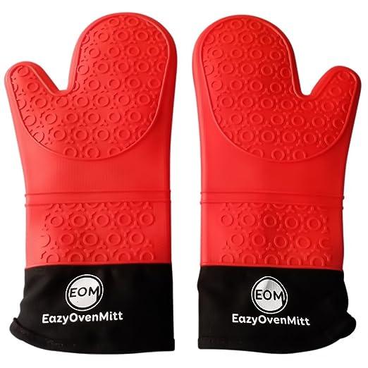 Silicona Horno mitts-, de grado comercial de manoplas de cocina ...