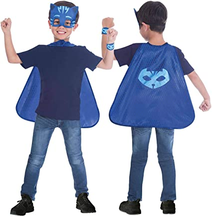 amscan- Blue Cape Costume Set with Masks Design, 4-8 Years-1 Pc ...