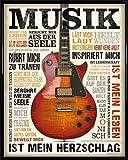 Inspiration Mini-Poster und Kunststoff-Rahmen - Musik Berührt Meine Seele (50 x 40cm)