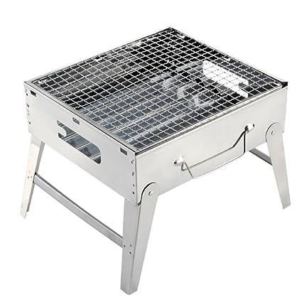 ZZ-aini Portátil Plegable Barbacoa de Carbón, Humo Camping BBQ Picnic Sobremesa Barbecue-