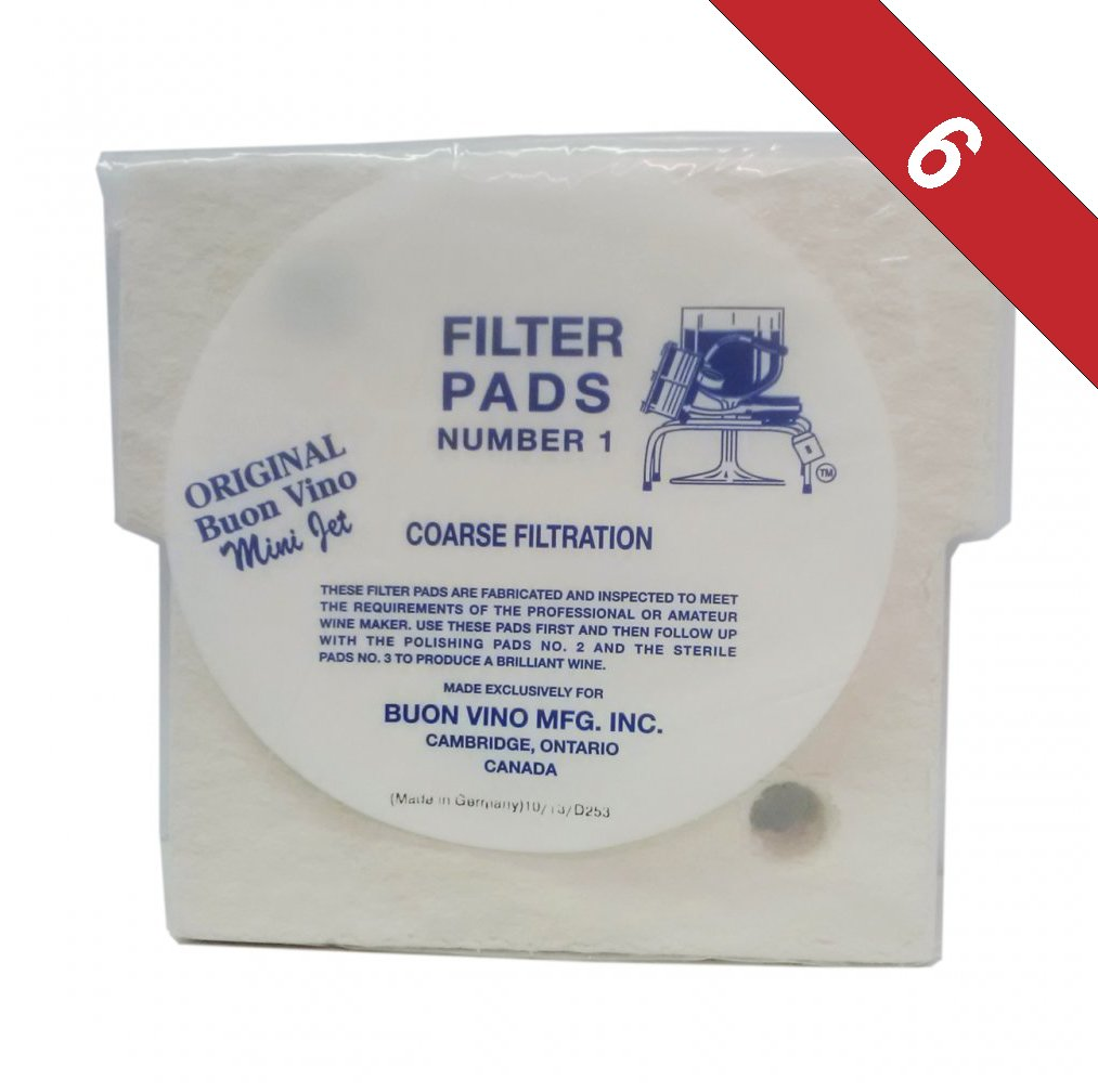 Buon Vino Super - Jet Filter Pads #1-Pack of 6 by UbrewUsa