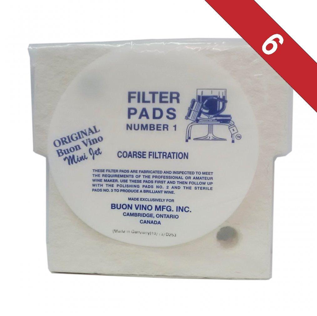 Buon Vino Super - Jet Filter Pads #1-Pack of 6