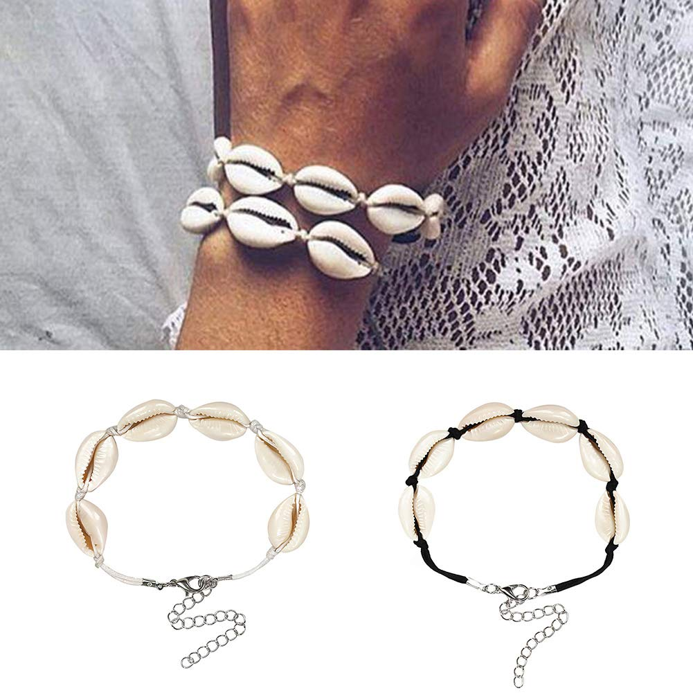 Powerfulline Exquisite Fashion Weave Women Girls Handmade Shell String Bracelet Party Beach Jewelry Sale