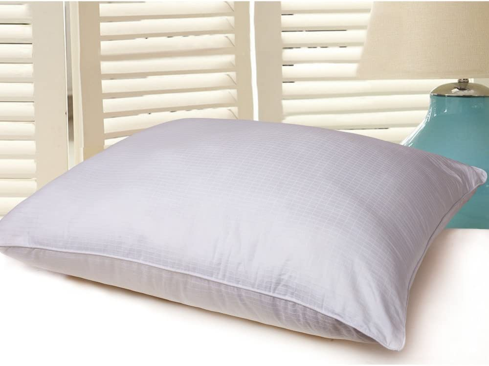 Lotus Home 400 Thread Count 100% Cotton Water & Stain Resistant Down Alternative Bed Pillow, Jumbo