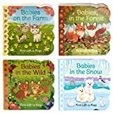 img - for 4 Pack Baby Animals Lift-a-Flap Board Books book / textbook / text book