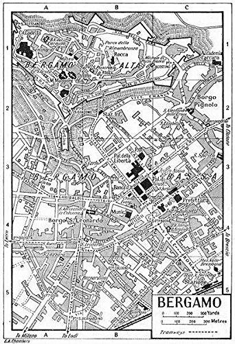 Amazon BERGAMO Town City Plan Italy