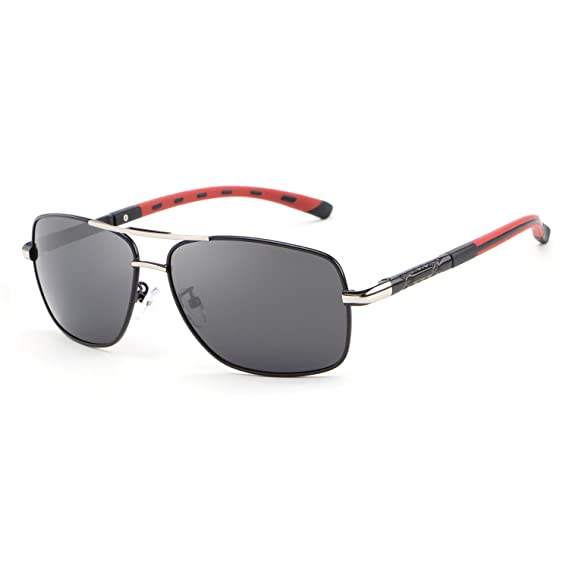 f9589d8ef Amazon.com: HDCRAFTER Polarized Sunglasses for Men UV400 Protection Lenses  Metal Frame: Clothing