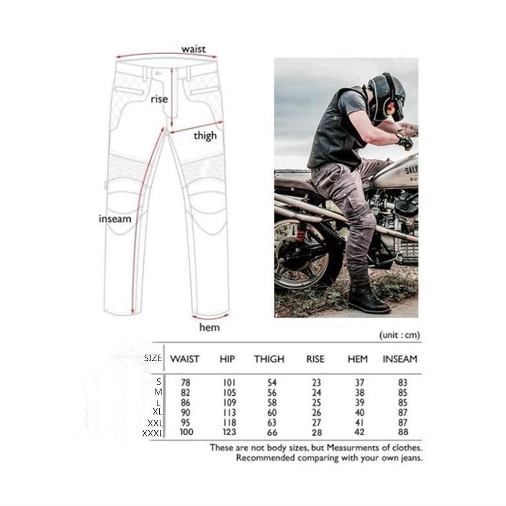 Pantalones De Moto Off-road Pantalones De Moto Antica/ída Los /últimos Pantalones De Moto Para Hombre Pantalones De Moto Con Versi/ón Mejorada De Esterilla Protectora Extra/íble