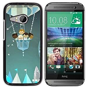 TopCaseStore / la caja del caucho duro de la cubierta de protección de la piel - Fair Kids Stars Painting Balloon - HTC ONE MINI 2 / M8 MINI