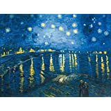 Posters: Vincent Van Gogh Poster Art Print - Starry Night Over The Rhône, 1888 (32 x 24 inches)