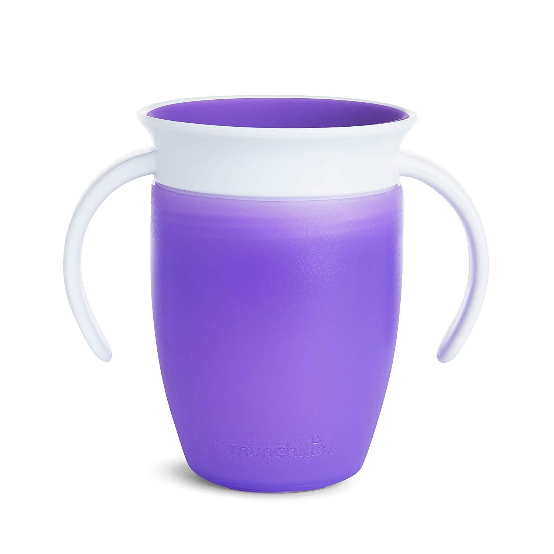Munchkin Miracle 360 Trinklernbecher 2er-Pack 207 ml Farbe: Violett//Gr/ün