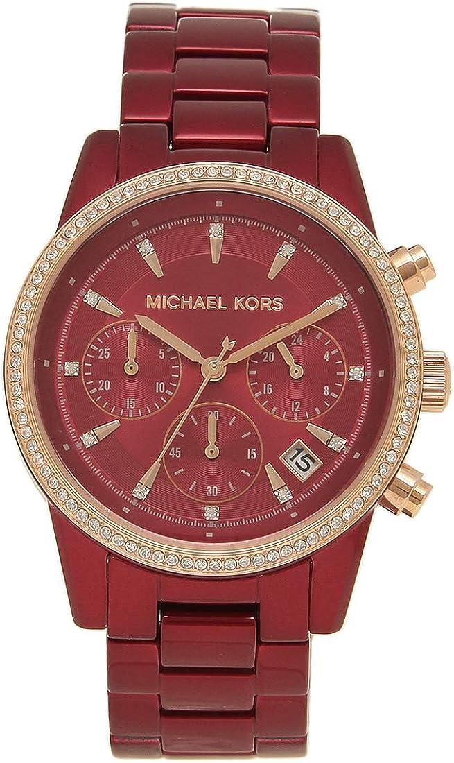 [マイケルコース]腕時計 レディース MICHAEL KORS MK6665 37MM レッド [並行輸入品]