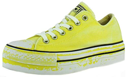 scarpe converse gialle