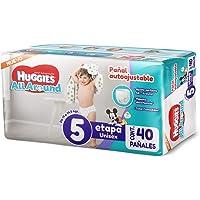 Huggies All Around, Pañales Unisex, Etapa 5, 40 Piezas