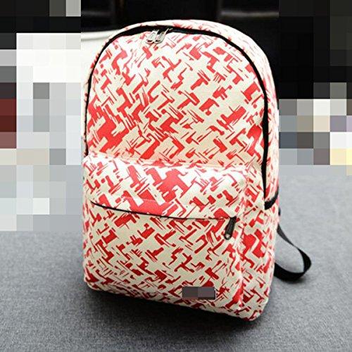 Mochila De Moda Para Mujer Mochila De Viaje Impresa Mochila Mochila Para Escuela Multicolor Red