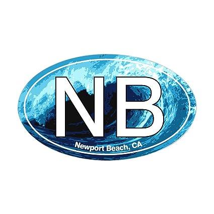 Amazon Com Cafepress Nb Newport Beach Wave Oval Oval Sticker