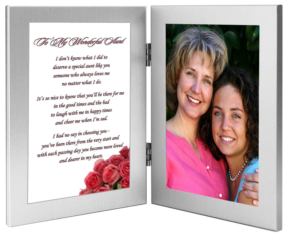Aunt Birthday Gift for a Favorite Aunt Add Photo Poem Frame