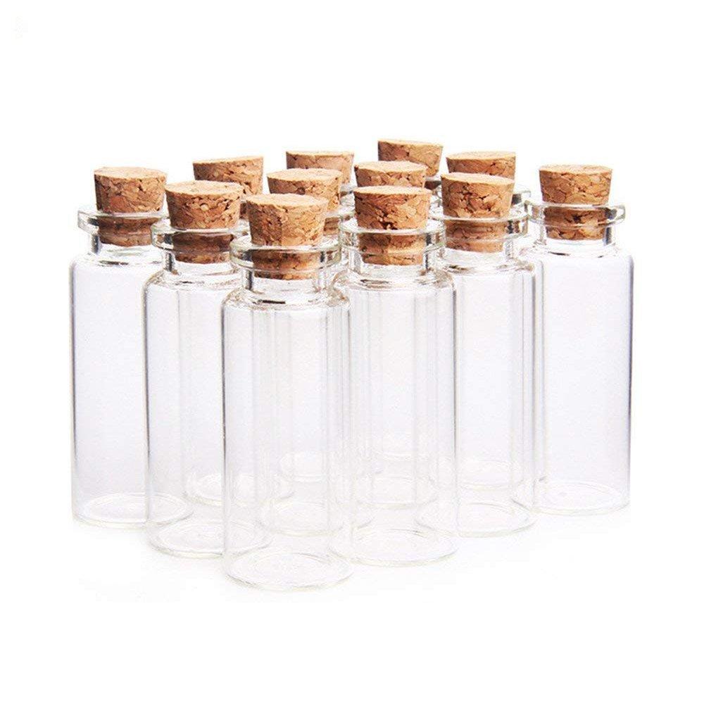 Danmu Art 12PCS 15ml mini Tiny bottigliette in vetro con tappo in sughero