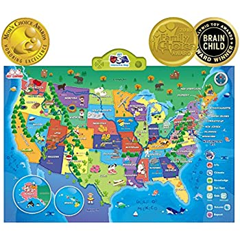 Amazon zanzoon interactive map usa english toys games best learning i poster my usa interactive map gumiabroncs Image collections