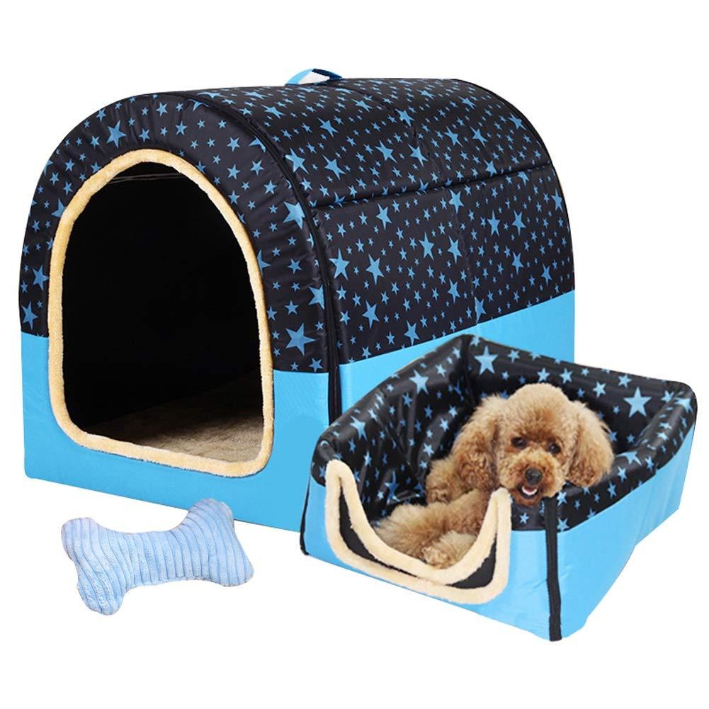 F LDQMSB Large Dog Kennel Winter Warm Washable Pet Nest Medium Dog Kennel Indoor Dog House 6 Styles 6 pet Bed (color   C, Size   XL)