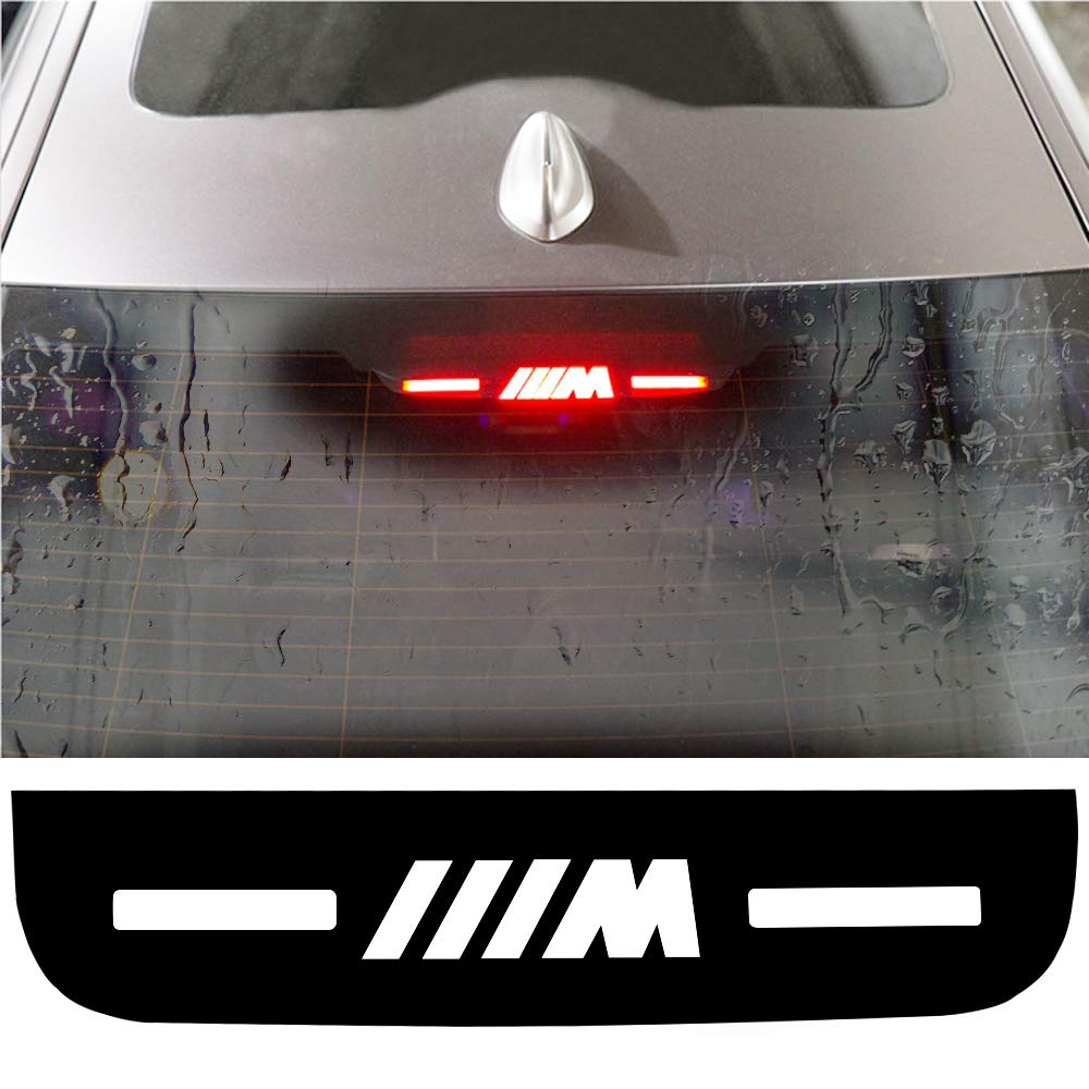 Car High Brake Light Stickers M Performance Rear Stop Brake Lamp Light Decals Veneer Car High Mounted Decorative Emblems Car Mount Interior Stickers for BMW M Logo 3 5 7 Series for BMW 3 Series