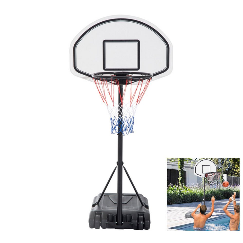 FCH Poolside Basketball Hoop Swimming Pool Kids Junior Adjustable Height Portable Basketball System Backboard Stand Pool Toy by FCH