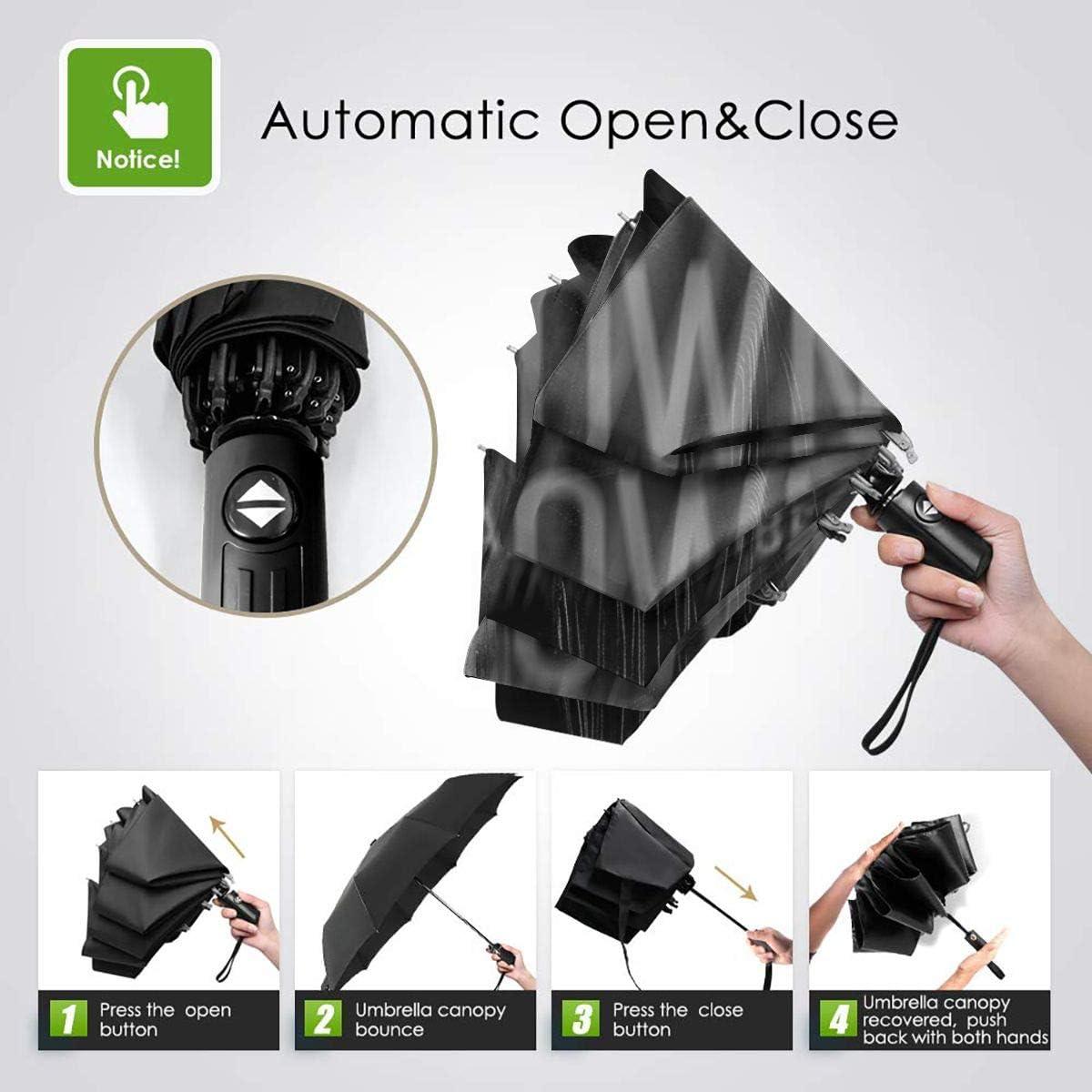 RongFaClothing Automatic Waterproof Fashion Adam Lambert Sun Umbrella-Auto Open Close Travel Tri-fold Rain Parasol Umbrella Gift Inside Print