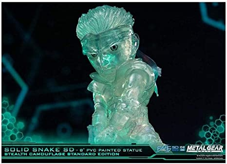 Stealth Camo Clear Solid Snake PVC Metal Gear Solid First4Figures - Standard