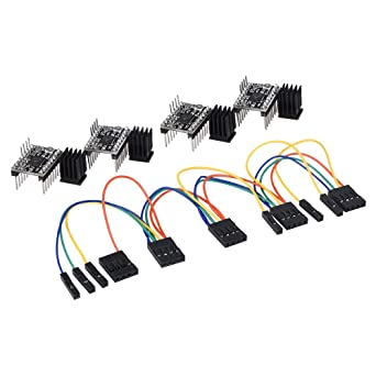 PoPprint TMC2130 V1 1 SPI Motor Driver Silent Board With Heat Sink And A  Aet Wire For 3D Printer (TMC2130 Pack of 4)