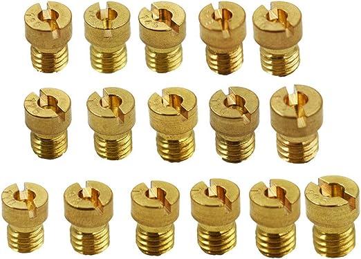 Carburetor Main Jet Kit Replacement part# PWK OKO CVK Carburetor Main Jet 90,92,95,98,100,105,108,110,115,120,125,130,135,140,145,150 Fit for 150cc and 125cc GY6 carburetors