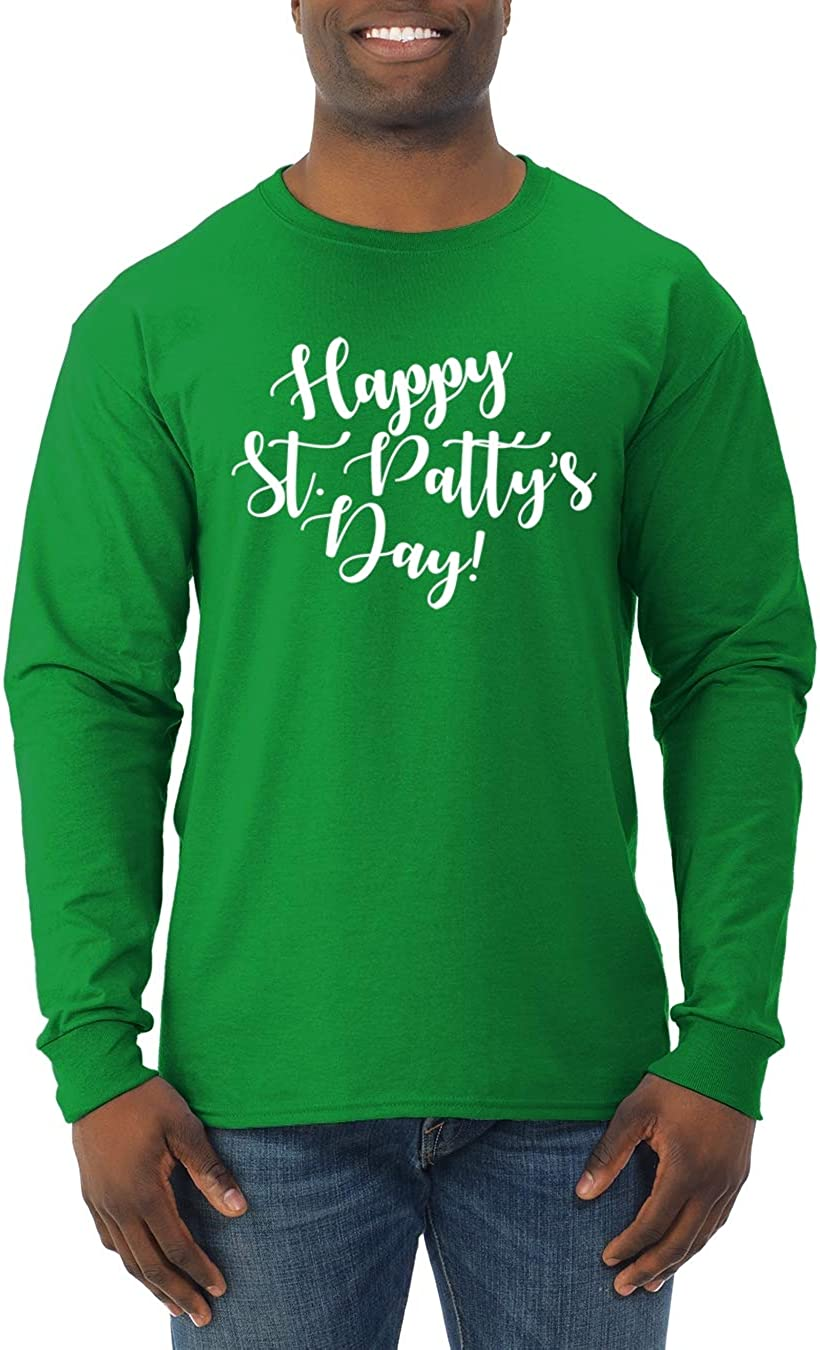 Happy St Patty's Day Irish Drinking | Mens St. Patrick's Day Long Sleeve T-Shirt 61vqUN4GZ4L