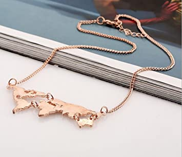 World map necklace globe necklace rose gold amazon beauty world map necklace globe necklace rose gold gumiabroncs Image collections