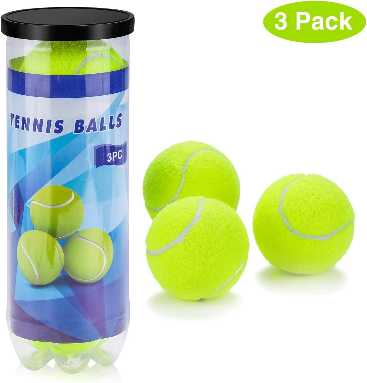 Philonext Pelotas de Tenis, 3 Unidades Set de Pelotas de Tenis Duras, para Juegos en Todas Las áreas, para un Uso Constante Aprende aJugar Al Tenis y al Ejercicio, Tenistas: Amazon.es: Deportes