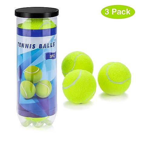 Philonext Pelotas de Tenis, 3 Unidades Set de Pelotas de Tenis Duras, para Juegos en Todas Las áreas, para un Uso Constante Aprende aJugar Al Tenis y ...