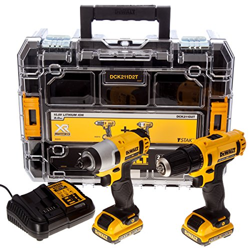 -[ DeWalt DCK211D2T 10.8V Li-ion Cordless Compact Drill Driver and Impact Driver (Twin Pack)  ]-