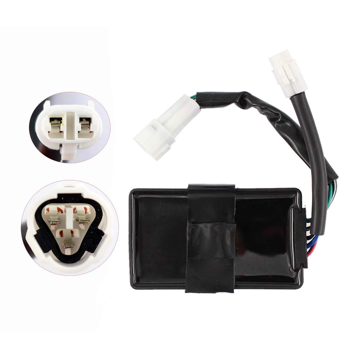 CDI Box Unit Ignitor Fits for Kawasaki ATV KLF300B KLF300C KEF300A KEF300B Replace #21119-1241, 21119-1258, 21119-1302, 21119-1369 HAOCHENG
