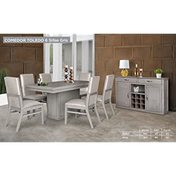 HOME DESIGN Buffet para Comedor Modelo Toledo - Gris: Amazon.com.mx ...