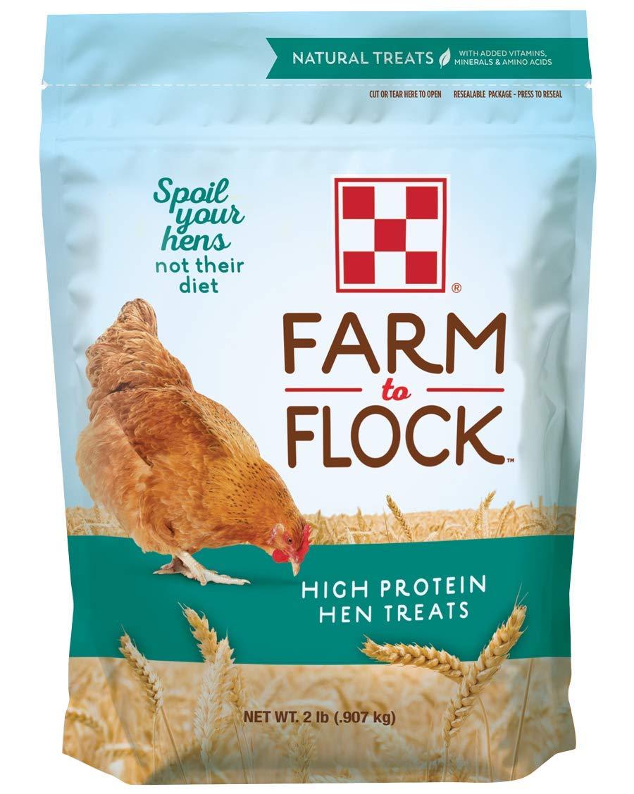 Purina Farm to Flock High Protein Hen Treats, 2 lb Bag by Purina