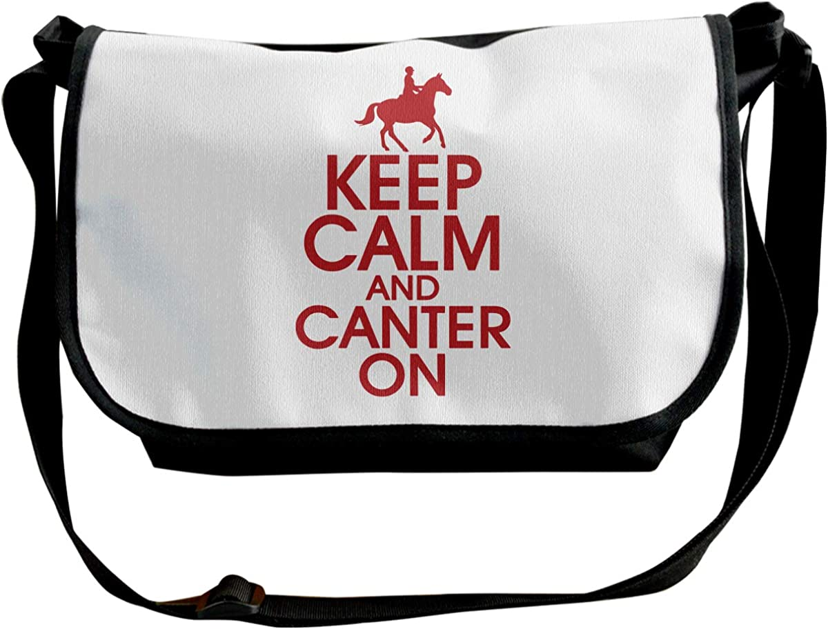 Keep Calm And Canter On Unisex Single Shoulder Pack Classic Messenger Bag