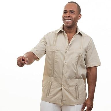 70a0de6d102 Basic Traditional Cotton Blend cuban guayabera shirt. SIZE M COLOR ...