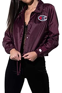 04e2d70d94fa Champion Women s Chest Logo Inside Script Print Cropped Windbreaker Coaches  Jacket