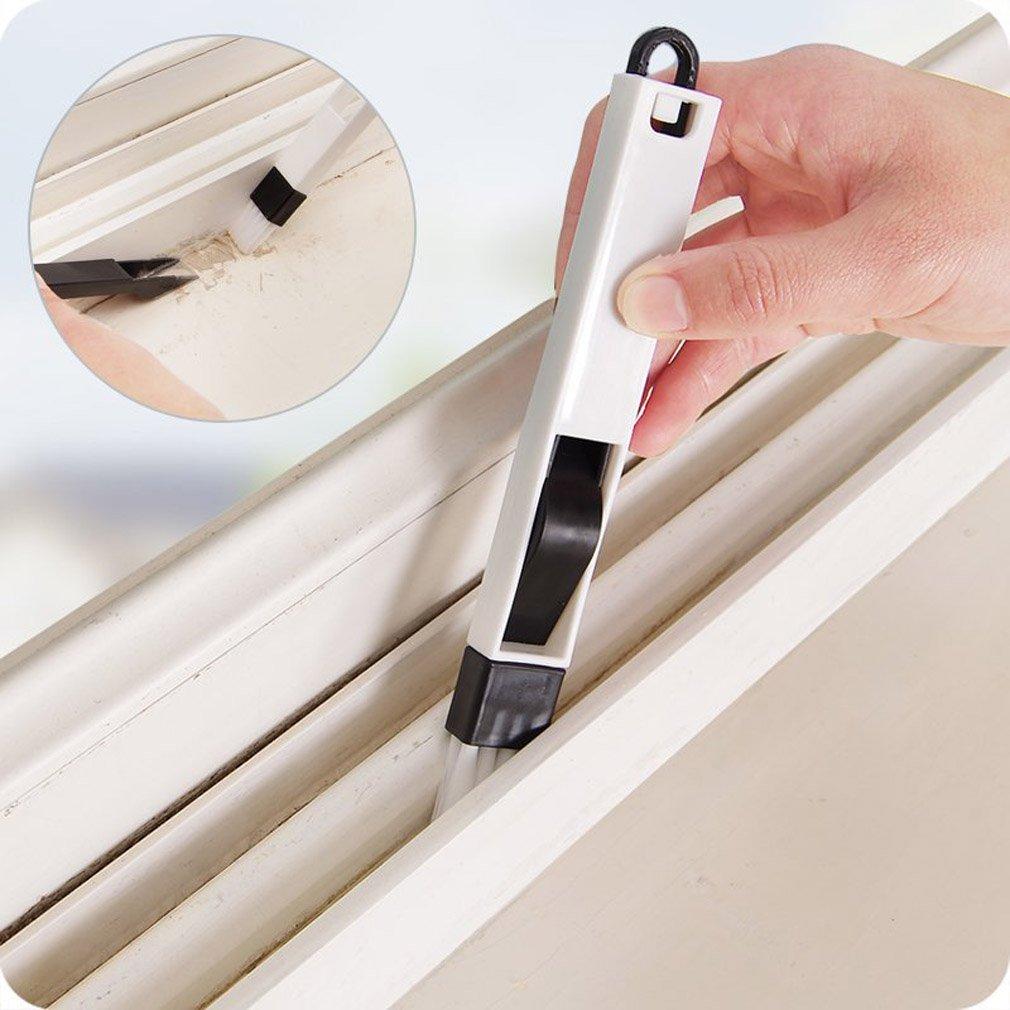 Gudelaa 2 In1 Finestra Groove Spazzola di pulizia Cranny Keyboard Home Kitchen Door Strumenti di pulizia portatili Dustpan Brush