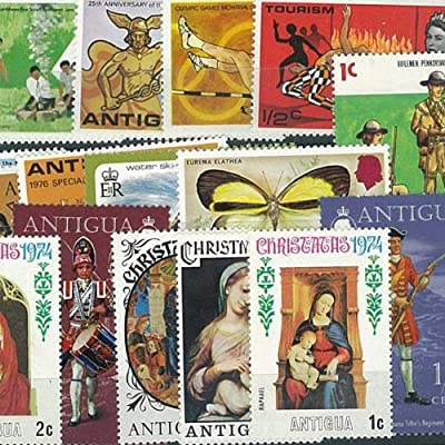 Collection of Cancelled Antigua 25 Different Stamps: Amazon.es: Hogar