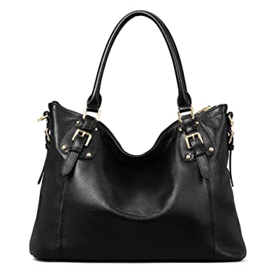 Amazon.com: Kattee Women's Vintage Genuine Leather Tote Shoulder ...