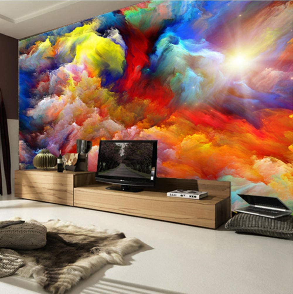 Fotomurales 3D Arte Abstracto 3D Nube Colorida 350X275Cm Papel ...
